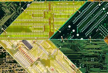 computer chips used in artwork