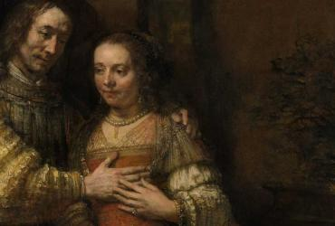 Painting by Rembrandt of two people