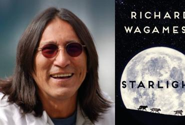 Author Richard Wagamese and the cover to his book Starlight