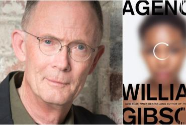 William Gibson and book cover